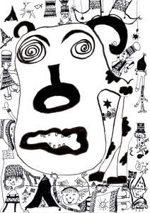 Harselerer med den hellige telemarskua, illustrert av Elin Margrethe Wersland
