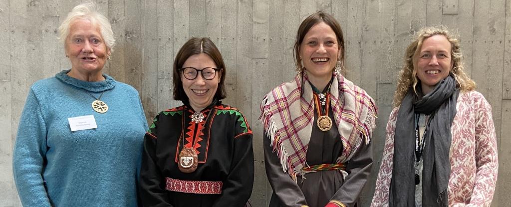 Fra venstre: Sidsel Schønberg (Stjørdal Kunstforening), Anna Anita Guttorm, Elin Margrethe Wersland og Mari Ann L. Pettersen (DKS Stjørdal).